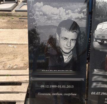Черно белая гравировка портретов на памятниках_4