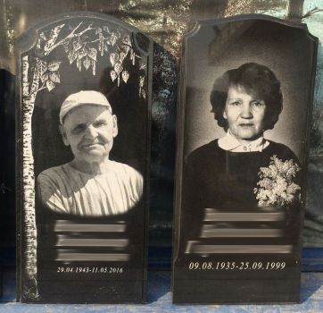 Черно белые портреты на граните_2