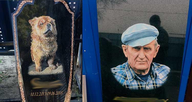 Цветные портреты на памятник в Красноярске по низкой цене!